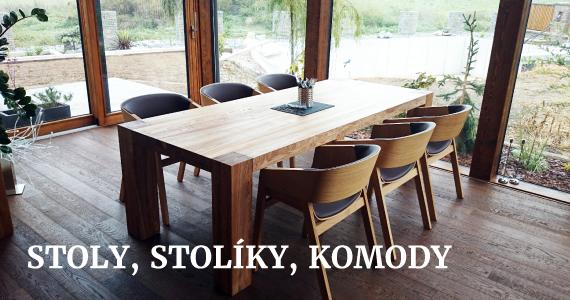 Stoly, stolíky, komody